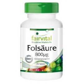 Folsäure 800µg - 250 Tabletten