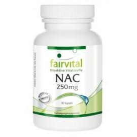 NAC - N-Acetyl-Cystein - 250 mg - 90 Kapseln - Fairvital- Bio Protect