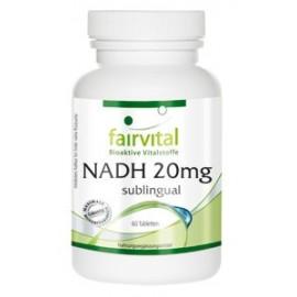 NADH 20mg Lutschtabletten Himbeer - 60 Tabletten Fairvital