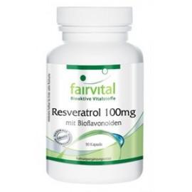Resveratrol 100mg mit Bioflavonoiden - 90 Kapseln- Fairvital