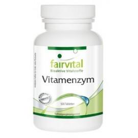 Vitamenzym - 500 Tabletten Enzymkomplex der Extraklasse - Faivital