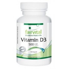 Vitamin D3 500 I.E. - 100 Kapseln  Fairvital
